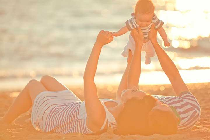 Un Dia De Playa En Familia